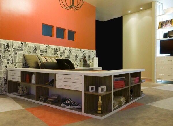 les 16 meilleures images du tableau lit estrade sur. Black Bedroom Furniture Sets. Home Design Ideas