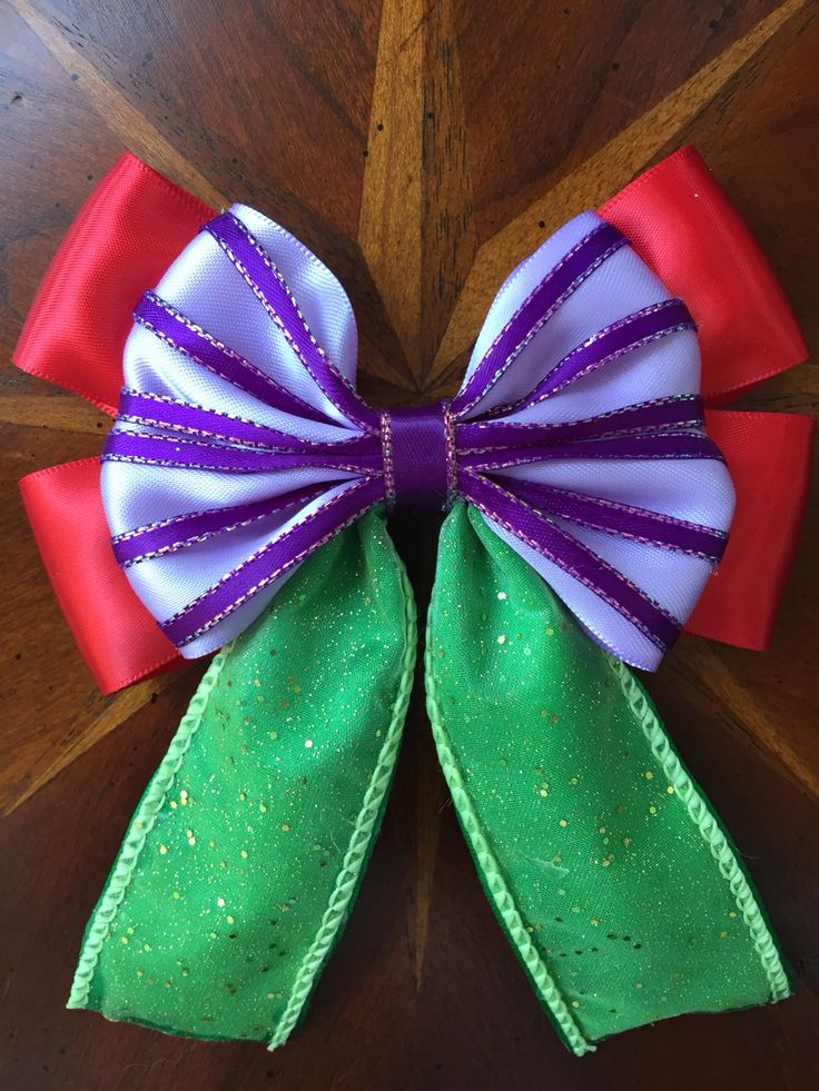 Disney's The Little Mermaid, Ariel hair bow  Handmade by  @missmbowtique