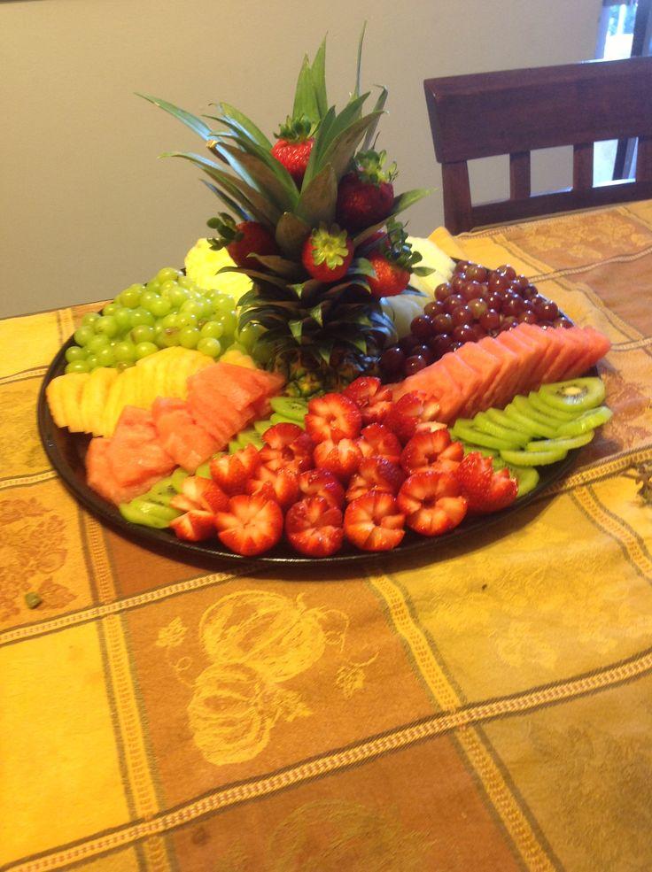 Charola de fruta frutas pinterest fruit creations for Appetizers decoration