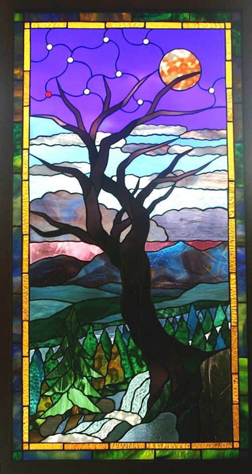 144 Best Images About Stain Glass Trees Amp Etc On Pinterest
