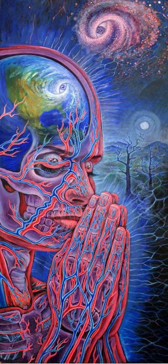 Alex Grey, I believe.                                                                                                                                                                                 More