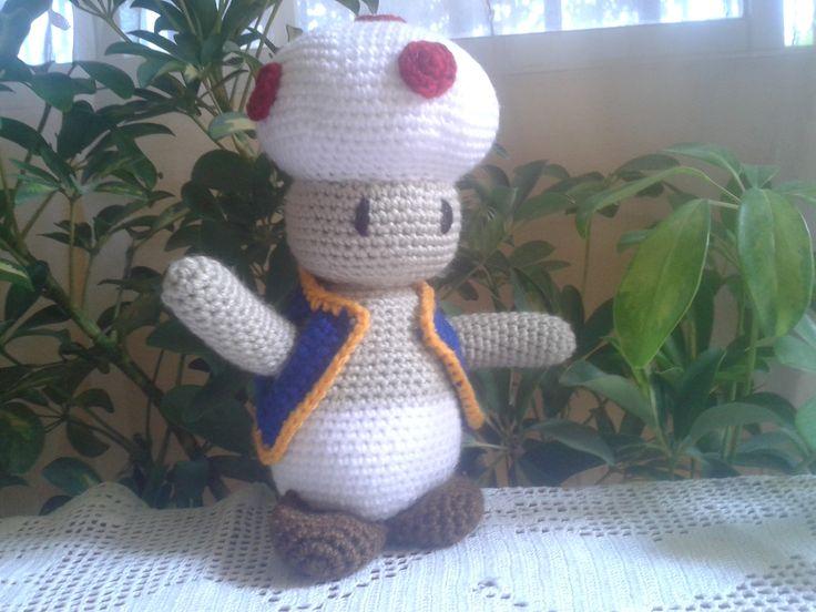 Hongo amigo de Mario Bross, Amigurumi, Crochet, Chile, solo foto