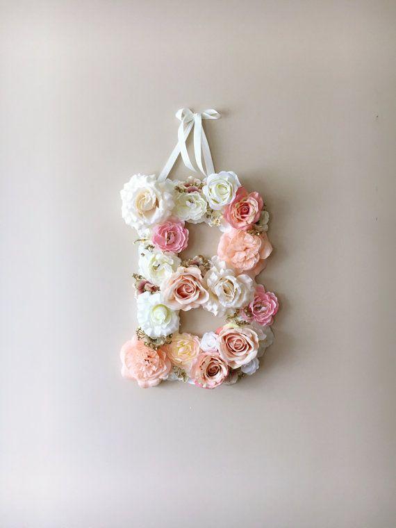 Flower Letters Floral Letters Vintage wedding by PaulettaStore