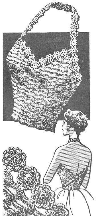 1946 sexy Halter Top Vintage Crochet patrón instantánea Descargar PDF 377