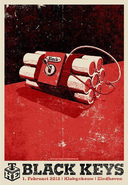 The Black Keys Gig Poster Graphic Design Inspiration Heavy Grain Texture