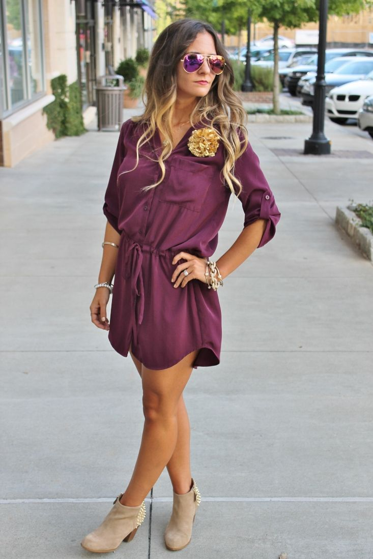 Bedazzles After Dark: Game Day Outfit: Seminole Shirt Dress