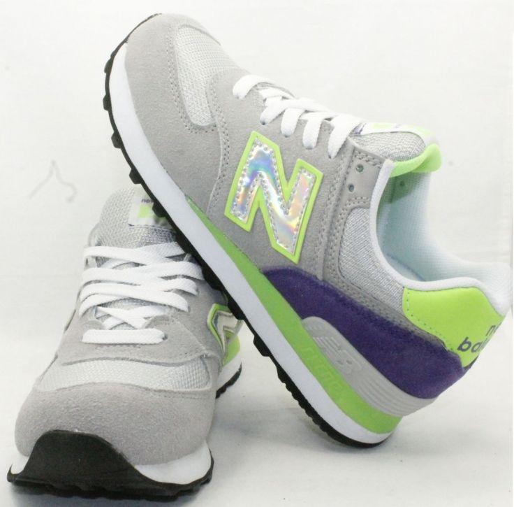 Женские серо-зеленые кроссовки New Balance 574 замша