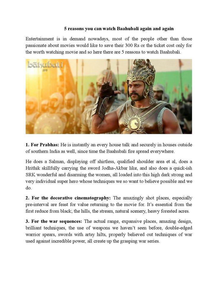 5 reasons you can watch baahubali again and again