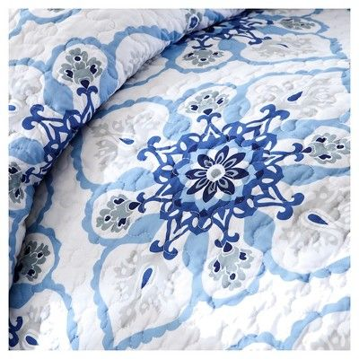 Taylor 5 Piece Quilted Coverlet Set - Blue (Full/Queen), Variation Parent