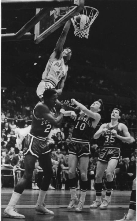 "Connie Hawkins (42), Louie Dampier (10), Darel Carrier (35), he was (Hawkins) Dr. ""J"" & ""MJ"" before they were..."