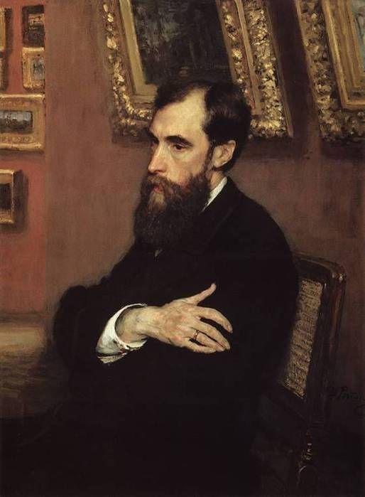 Πορτρέτο του ιδρυτή της Πινακοθήκης Pavel Tretyakov.(1883)