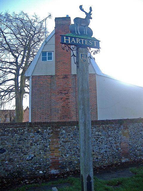 Hartest Village Sign Suffolk