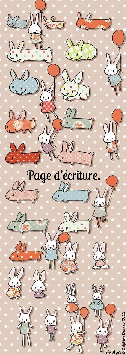 Conejos, conejos, conejos... Delphine Doreau.: Peter Cottontail Rabbits, Conejo Ilustracion, Art Ilustration Design, Bunnies