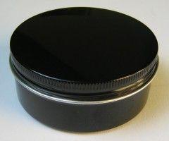 Kronenberg24 runde Aluminiumdose schwarz mit Schraubverschluss 81x37mm Metall Dosen Verpackungen Metalldosen rund Übersicht