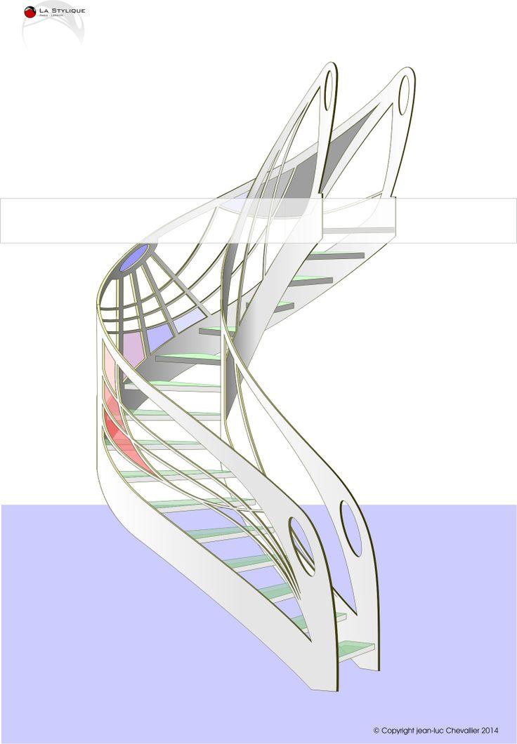 104 best escalier design images on pinterest stairs. Black Bedroom Furniture Sets. Home Design Ideas