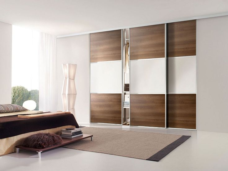 ... Cast Aluminum Framed Closet Doors With Frosted Glass And Brown Wooden Shades With Modern Sliding Closet Doors Also Slide Door [ T M L ...