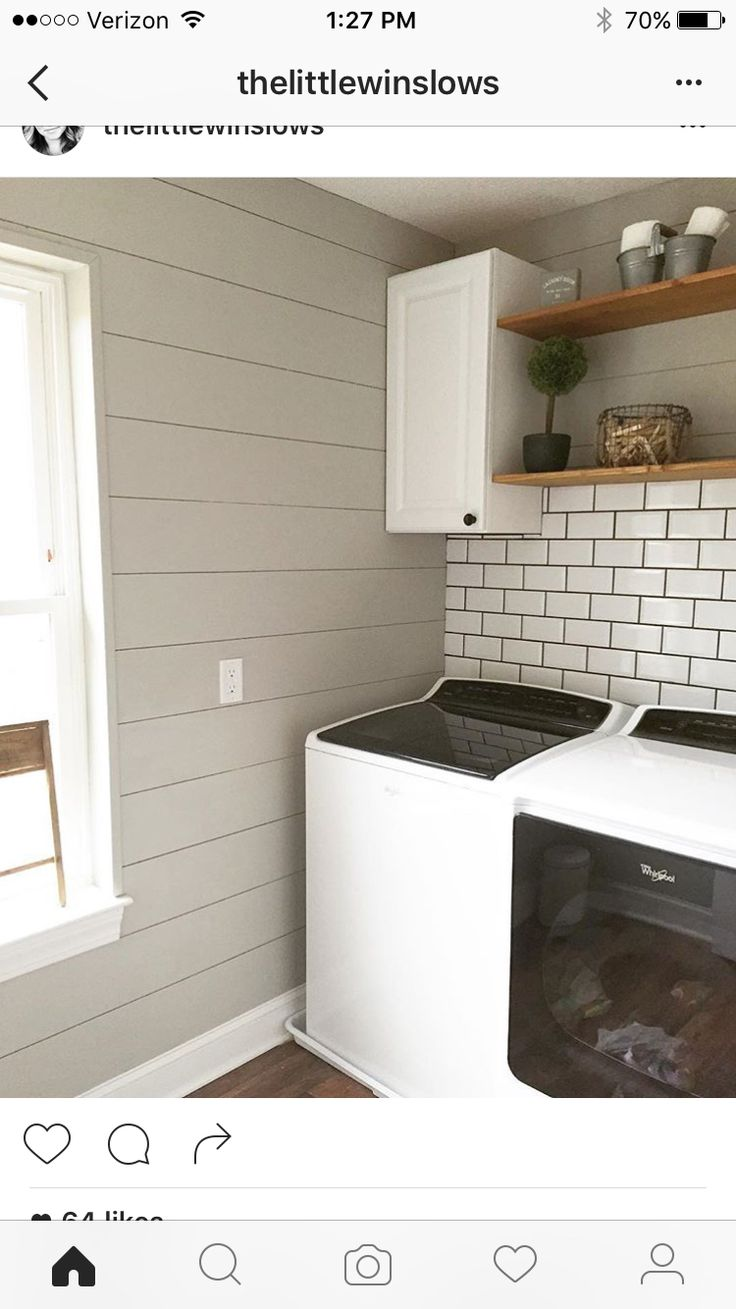 How to hang drywall on walls - Sherwin Williams Mindful Gray Shiplap Texture On The Wall So We May Not Have To Finish Drywall Brick And Like The Shelf