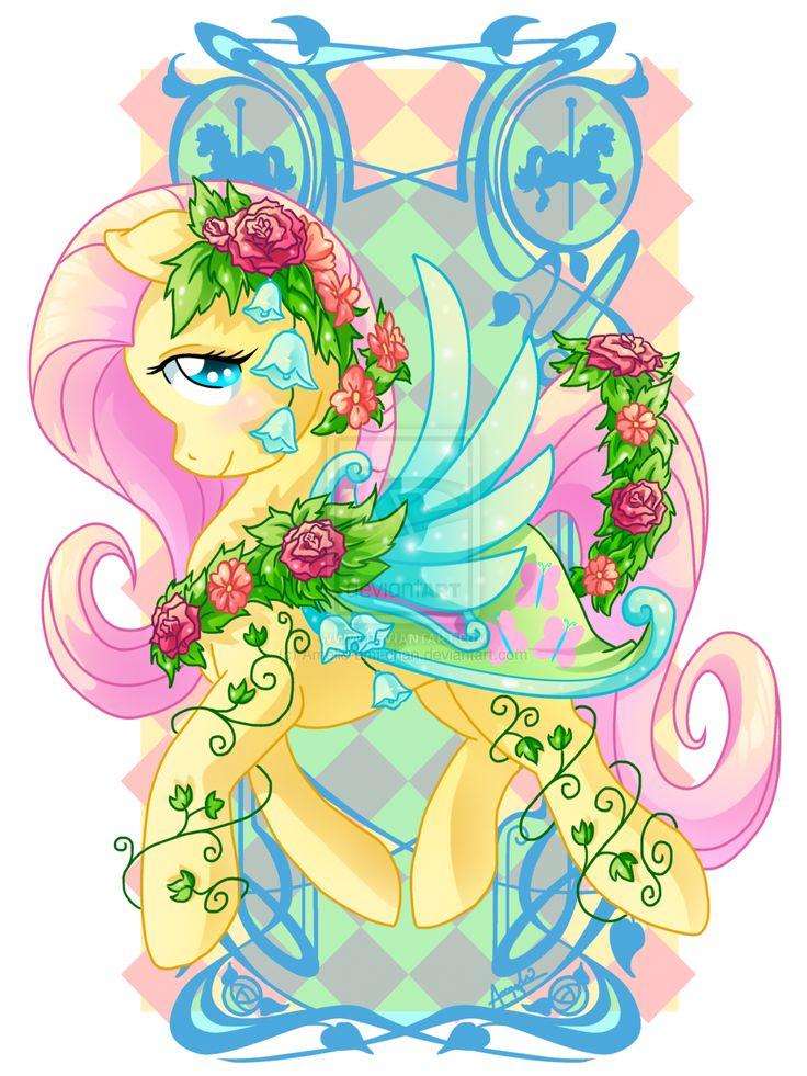 Fluttershy Carousel Cutie by Amelieamichan.deviantart
