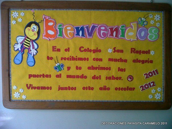 Payasita Caramelo: CARTELERA DE BIENVENIDA 2011-