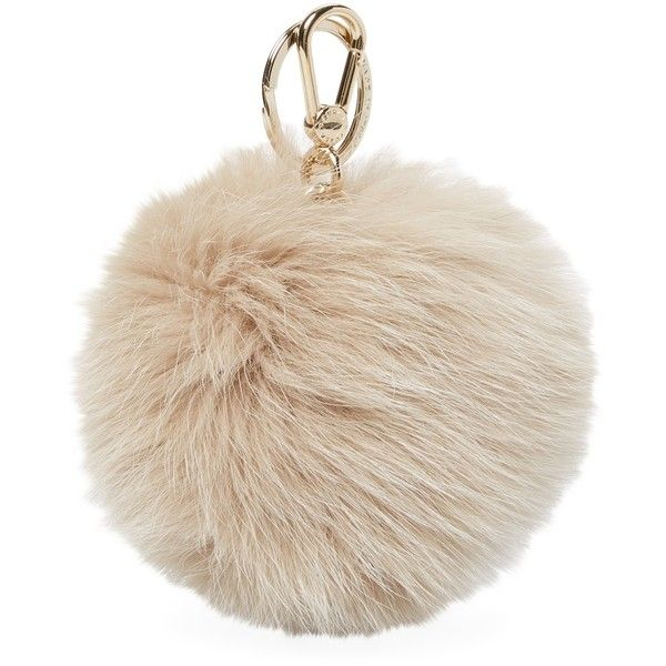 Furla Women's Bubble Pom Pom Keyring - Grey ($59) ❤ liked on Polyvore  featuring