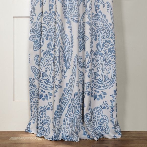 Create a soft and regal window when you hang these Tea Time China blue blackout curtains from Exclusive Fabrics. These patterned curtains shield you from the light without making your room feel dim an