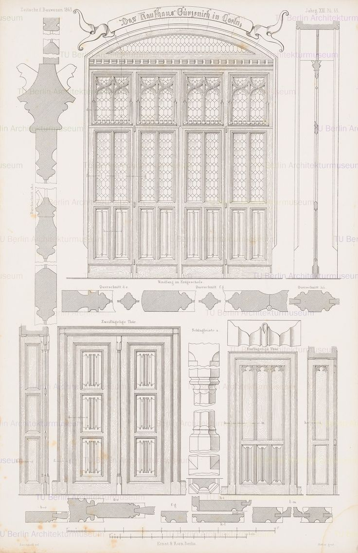 Titel   Kaufhaus Gürzenich, Köln. (Aus: Atlas zur Zeitschrift für Bauwesen…