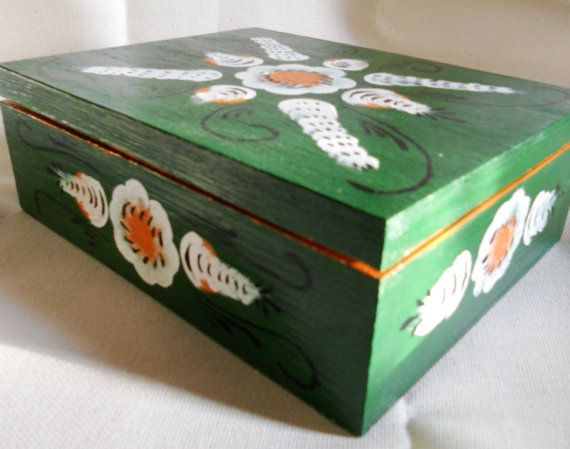 Unique wood box hand painted in by raskinfamilyworkshop on Etsy