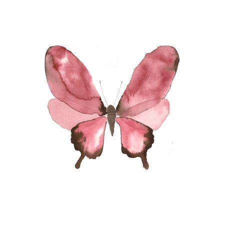 """Watercolor Butterfly"": High quality Art Print by Copenhagen based artist Lissa Thimm. Limited edition, archival inks on matte, ultra smooth 310g cotton rag, 20x20 cm, via orangerie-prints.com"