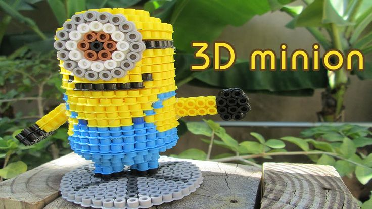 DIY: 3D Minion | Bead Sprites (Perler Beads)