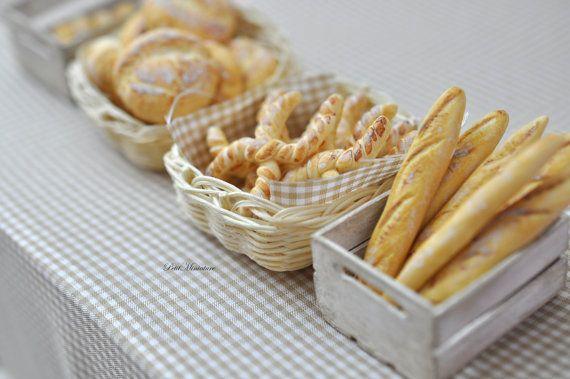 KIT 24 pcs Miniature BaguettePane Francese-Pane di PetitMiniatures