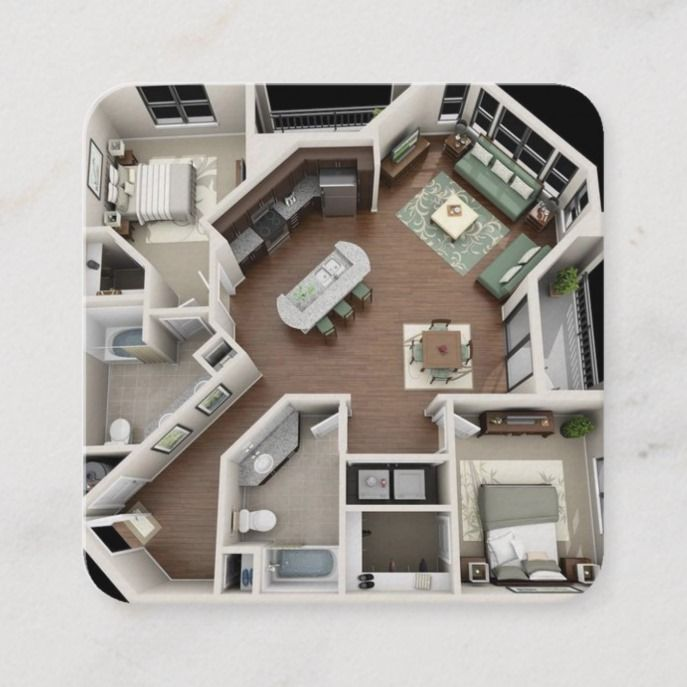 architect and designer floor plan business card | Zazzle.com