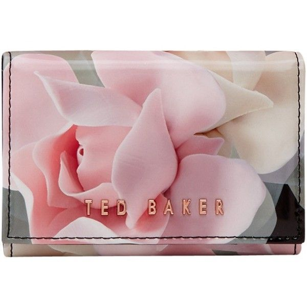 Ted Baker Rommi Porcelain Rose Leather Coin Purse, Black ($48) ❤ liked on Polyvore featuring bags, wallets, zip wallet, zippered coin pouch, snap coin purse, leather wallets and leather zipper wallet