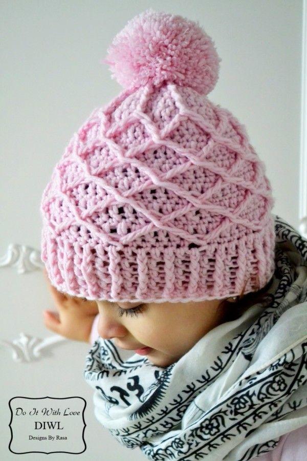 81 best Háčkované čepice images on Pinterest | Crochet hats, Hat ...