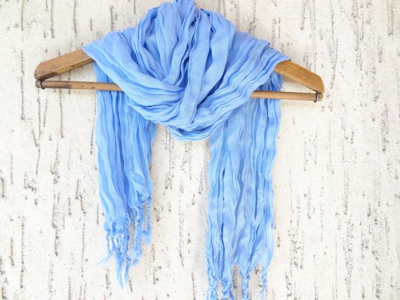 Handwoven infinity scarf  Blue Scarves by OttomanBazaars on Etsy, $24.00