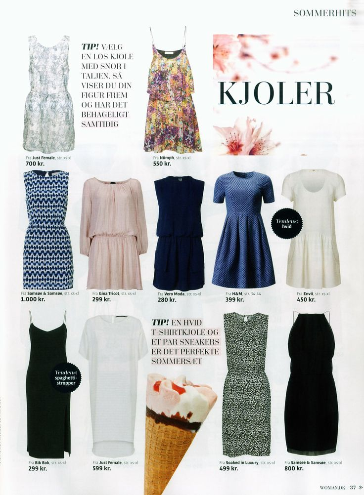 Soaked in Luxury dress in the danish magazine Woman