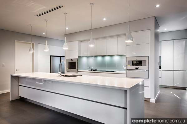 An elegant contemporary kitchen design from Western Kitchens.