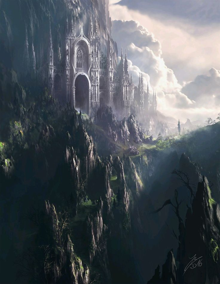 La montagne entière semble être une forteresse