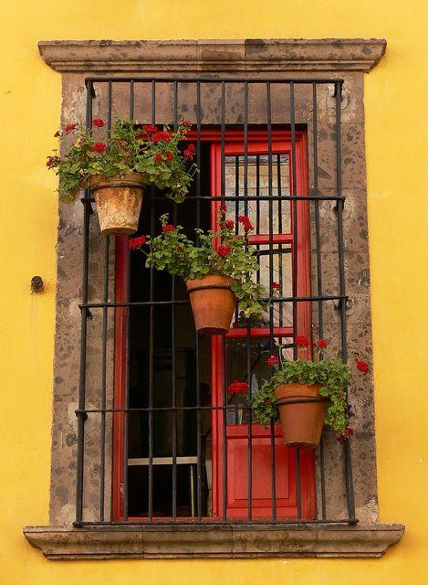 A window somewhere in San Miguel de Allende, Mexico by P Velasco, via Flickr