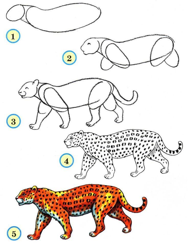 Как нарисовать открытку животных, рождением малыша