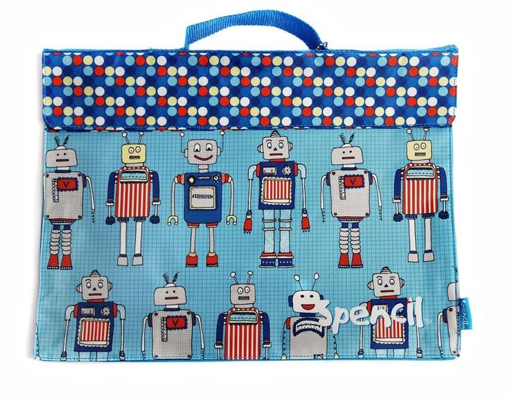 Library Book Bag - Robots