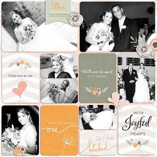 Botanical {A Wedding Album} - Journal 3x4 Cards by Red Ivy Design   Botanical {A Wedding Album} Extras by Red Ivy Design   Project Life Journaling card temps v2 by M Designs