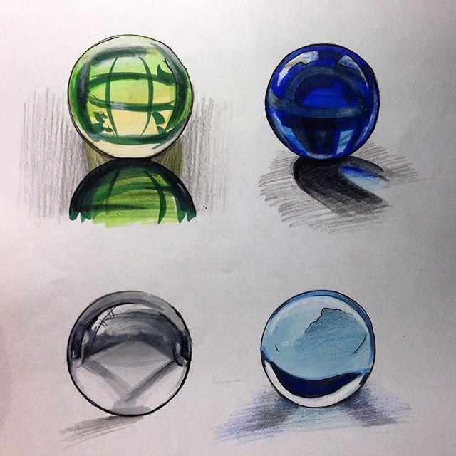 Грустно когда теряются скетчи😔хорошо, что успела сфотографировать эти стеклянные шарики 🔮 #sketch #sketching #sketchzone #glass #matveeva_sketch