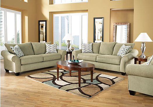 Shop for a park brooke sage 7 pc sleeper living room at for Find living room furniture