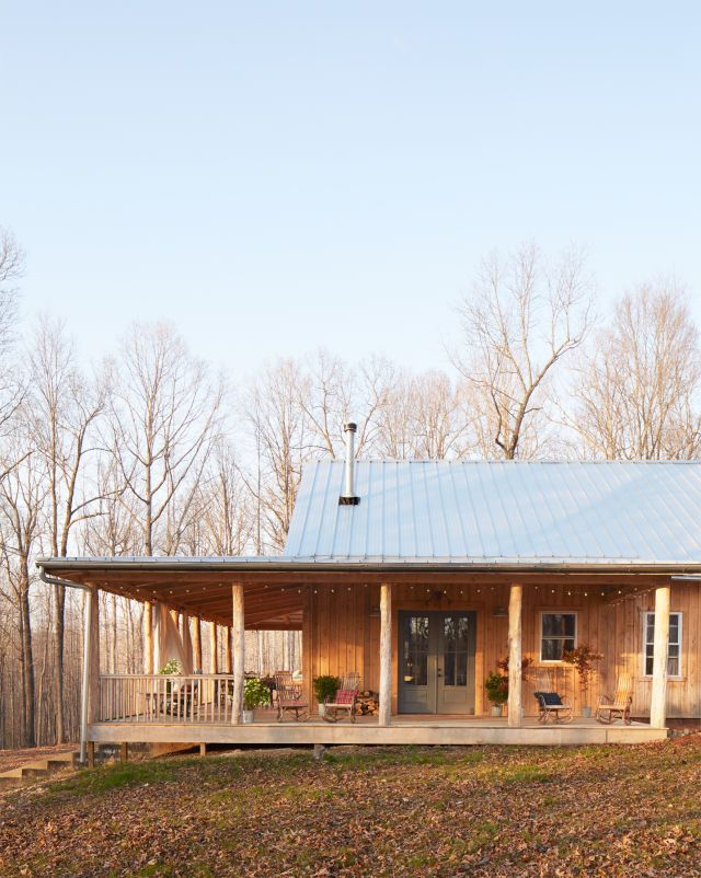 This cabin in Leiper's Fork, Tennessee, is surrounded by idyllic woods fittingly similar to the ones the towheaded heroine might have explored way back when.
