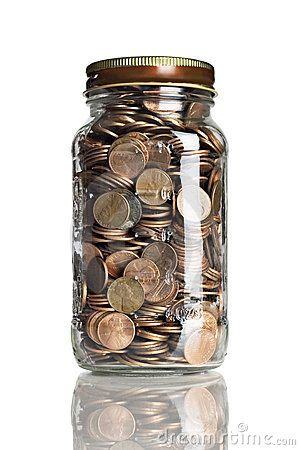 jar full of pennies penny candy pinterest