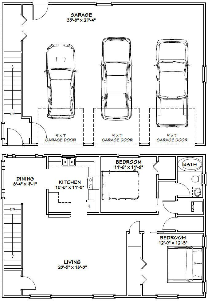 Excellent Floor Plans 56x48g1b 39 99 Carriage House Plans Garage Floor Plans Garage House Plans