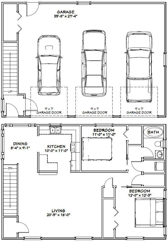 Excellent Floor Plans 34x48g1d 29 99 Carriage House Plans Garage Floor Plans Garage House Plans
