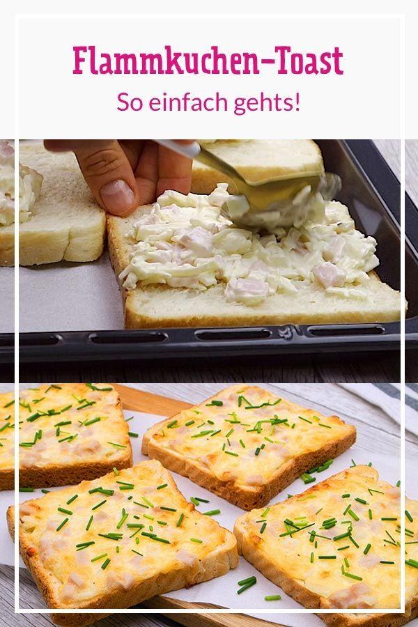 Flammkuchen-Toast – so einfach geht's