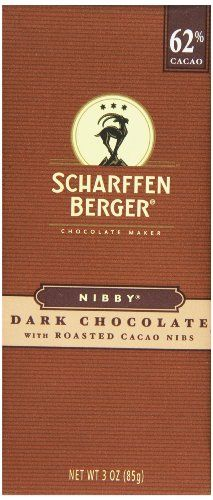 Scharffen Berger Nibby Dark Chocolate with Roasted Cacao Nibs 3 Ounce *** You ca…