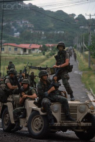 Operation 'Urgent Fury'.  The US led invasion of Grenada, October 25, 1983